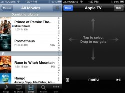 control apple tv with iphone iPod