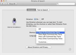 how to use enable turn on dictation mac os x mountain lion
