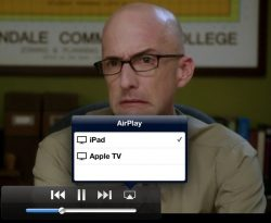 stream movie tv show from iPad iphone ipod to apple tv with airplay