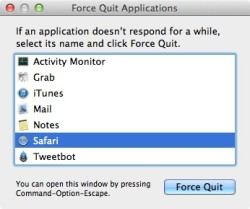 new mac owner how force quit mac os x