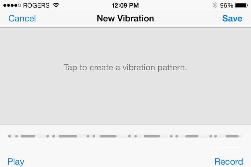 vibrations notifications