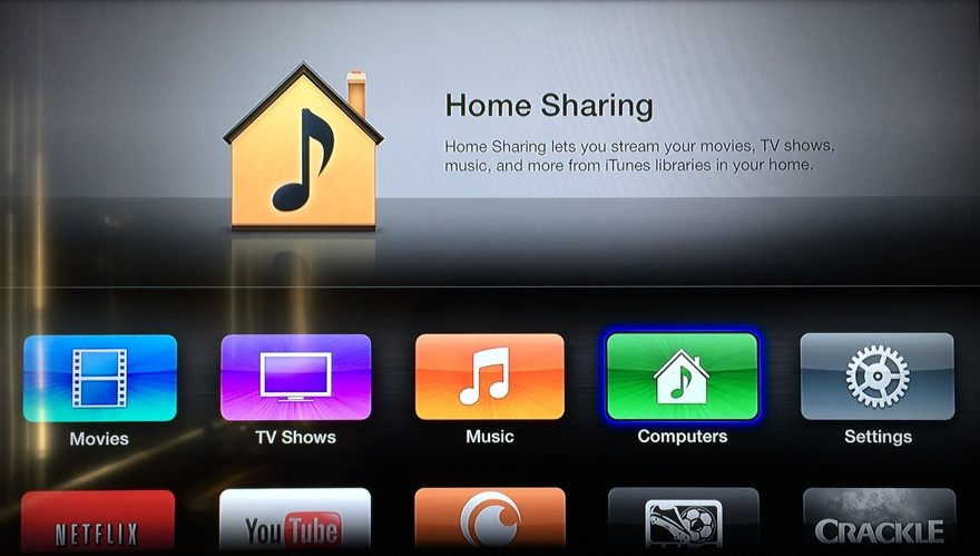 iTunes library to apple tv